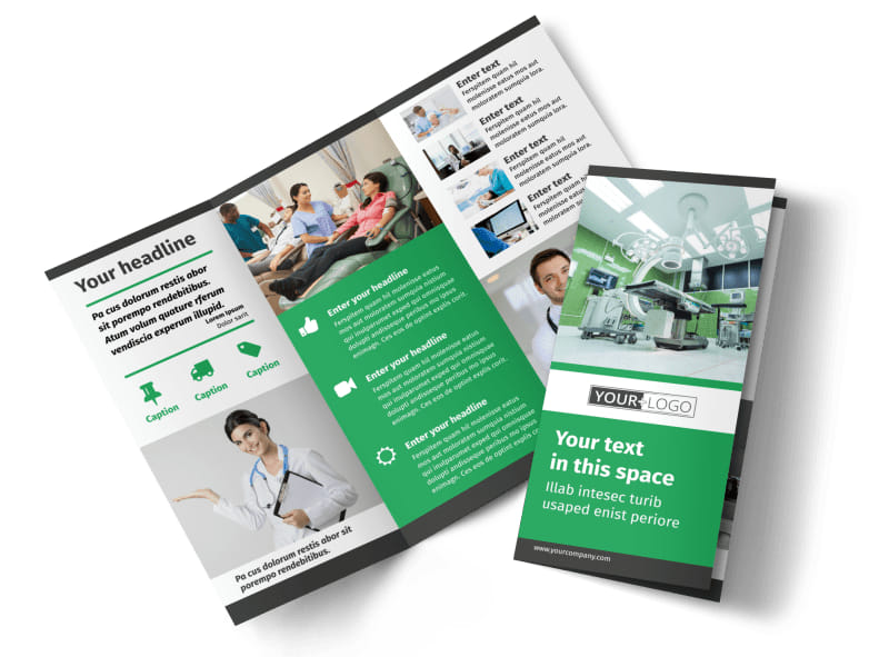Medical Center Brochure Template – Hospital Flyer Template
