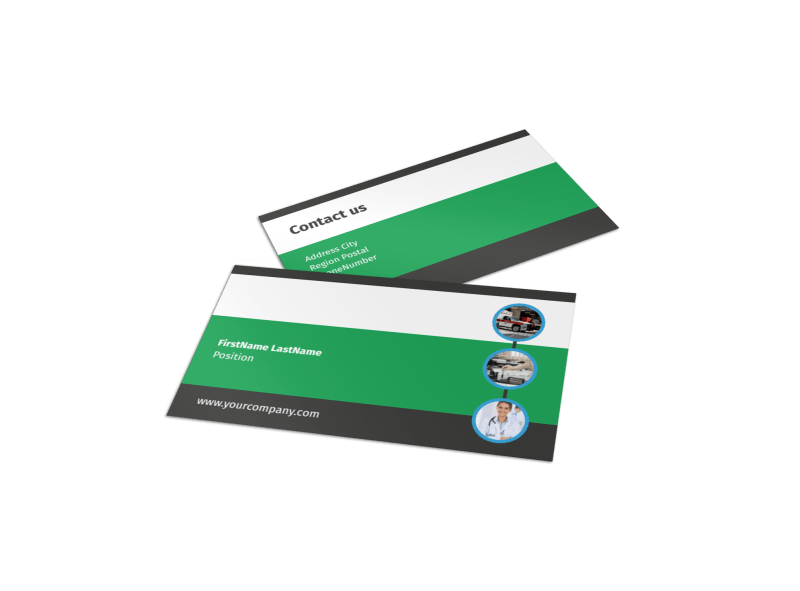 Medical Center Business Card Template Preview 1