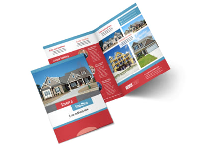House for Sale Real Estate Bi-Fold Brochure Template 2