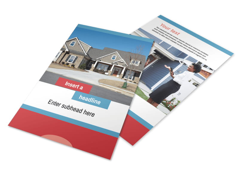 House for Sale Real Estate Flyer Template 3