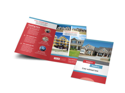 House for Sale Real Estate Bi-Fold Brochure Template