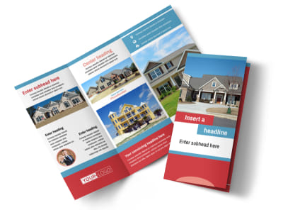 House for Sale Real Estate Tri-Fold Brochure Template