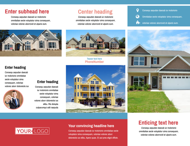 General Real Estate Brochure Template Preview 3