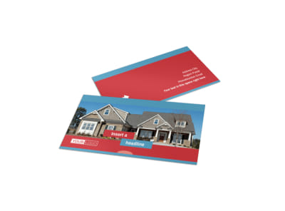 House for Sale Real Estate Business Card Template
