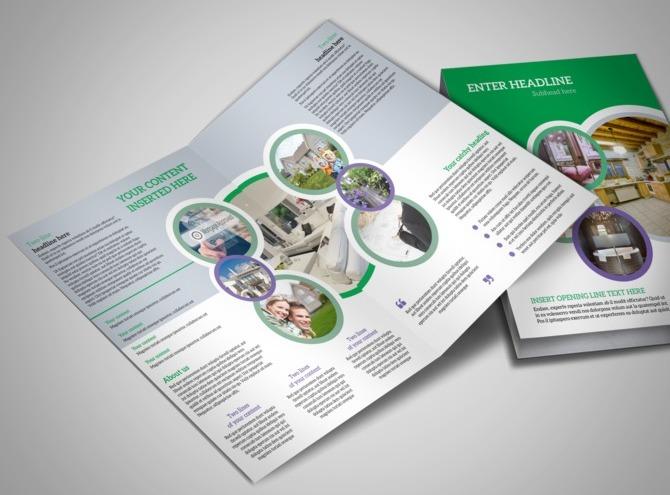 luxury brochure template - luxury real estate bi fold brochure template