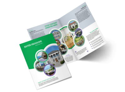Luxury Real Estate Bi-Fold Brochure Template 2