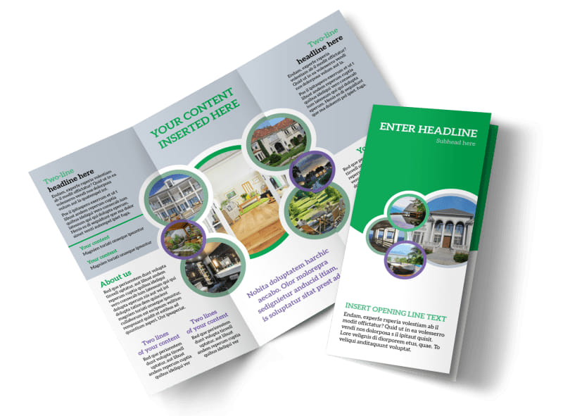 real estate tri fold brochure template