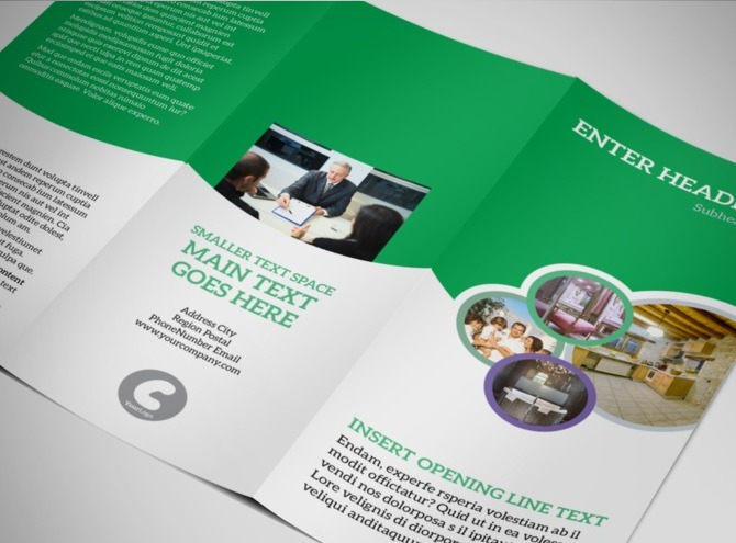 real estate tri fold brochure template - luxury real estate tri fold brochure template