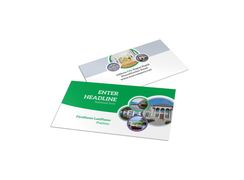 Design custom real estate business cards online mycreativeshop luxury real estate business card template reheart