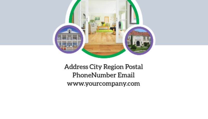 Luxury Real Estate Business Card Template Preview 3