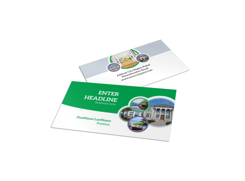 Luxury Real Estate Business Card Template Preview 1
