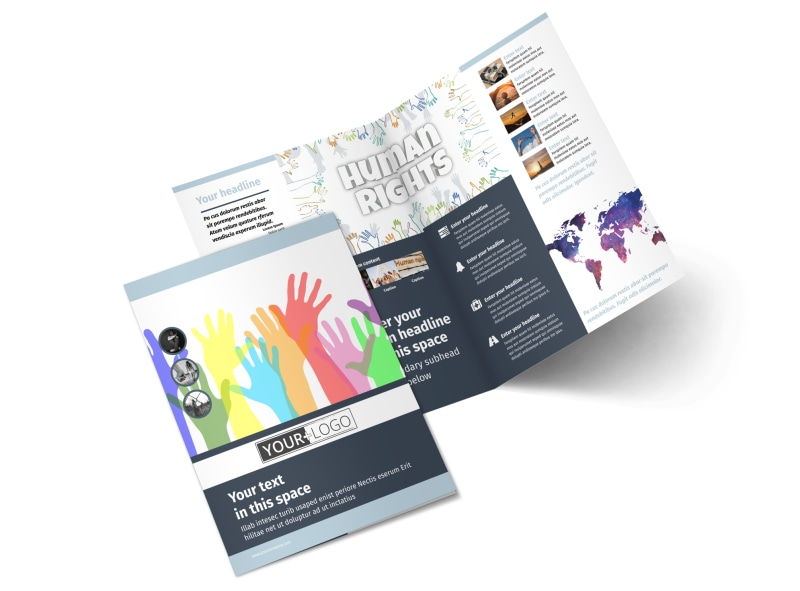 Human Rights Advocates Bi-Fold Brochure Template 2