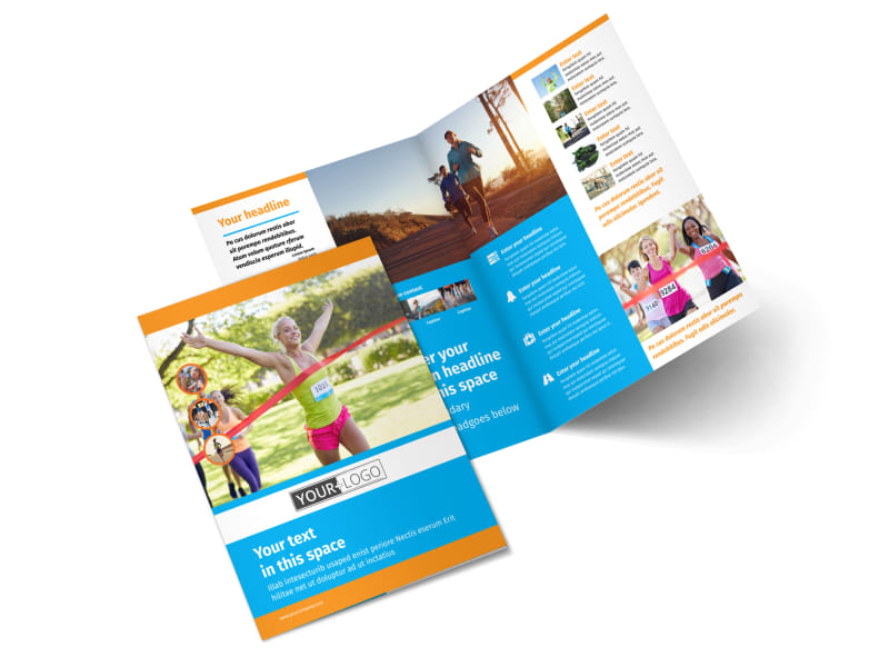 Marathon Race Bi-Fold Brochure Template 2