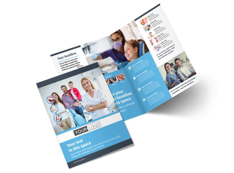 Your Family Dental Bi-Fold Brochure Template 2