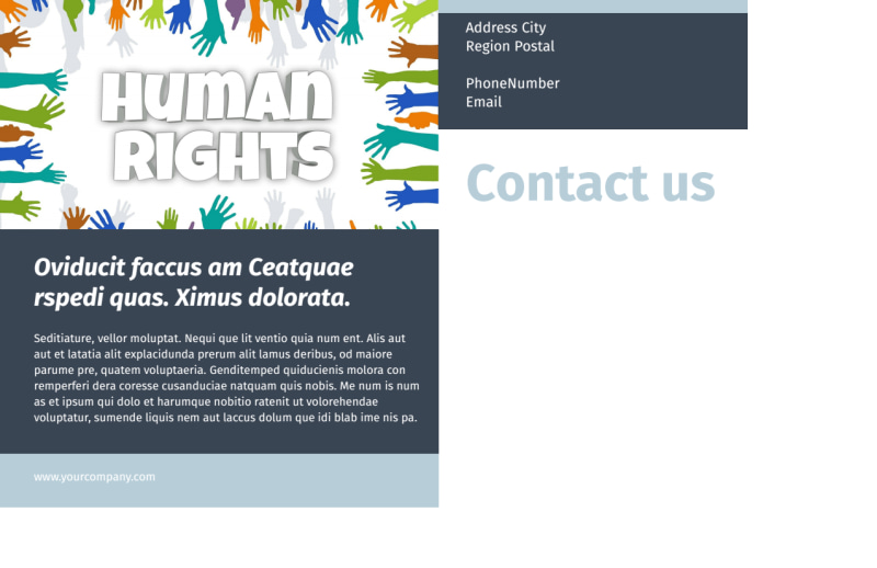 Human Rights Advocates Postcard Template Preview 3