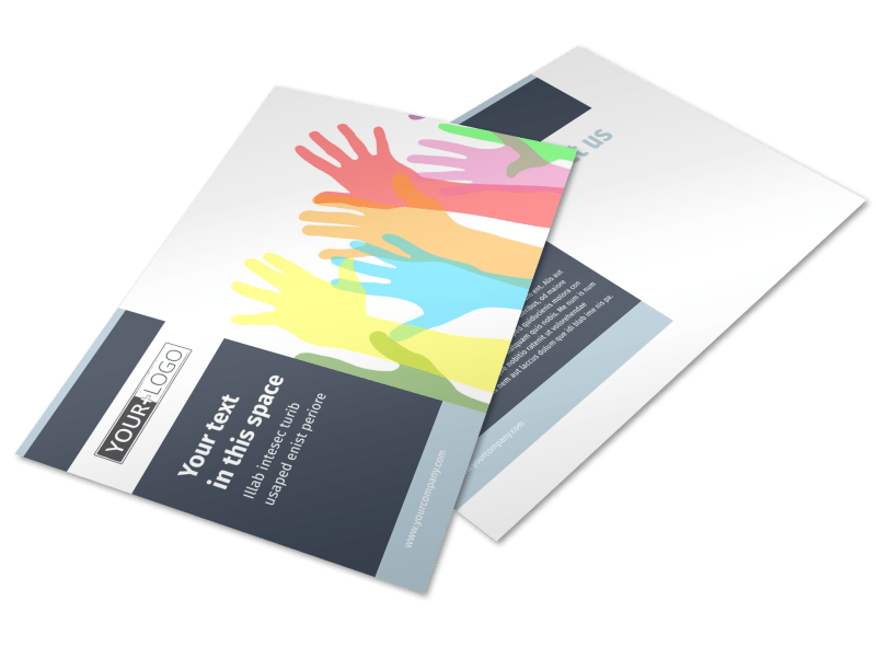 Human Rights Advocates Postcard Template Preview 1