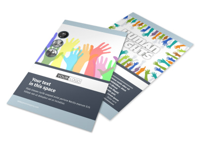 Human Rights Advocates Flyer Template 3