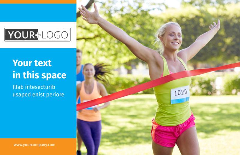 Marathon Race Postcard Template Preview 2