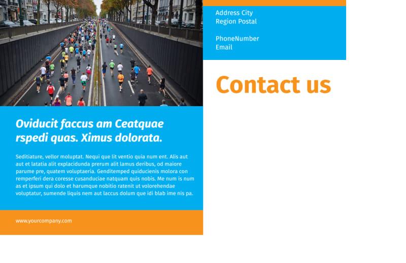 Marathon Race Postcard Template Preview 3