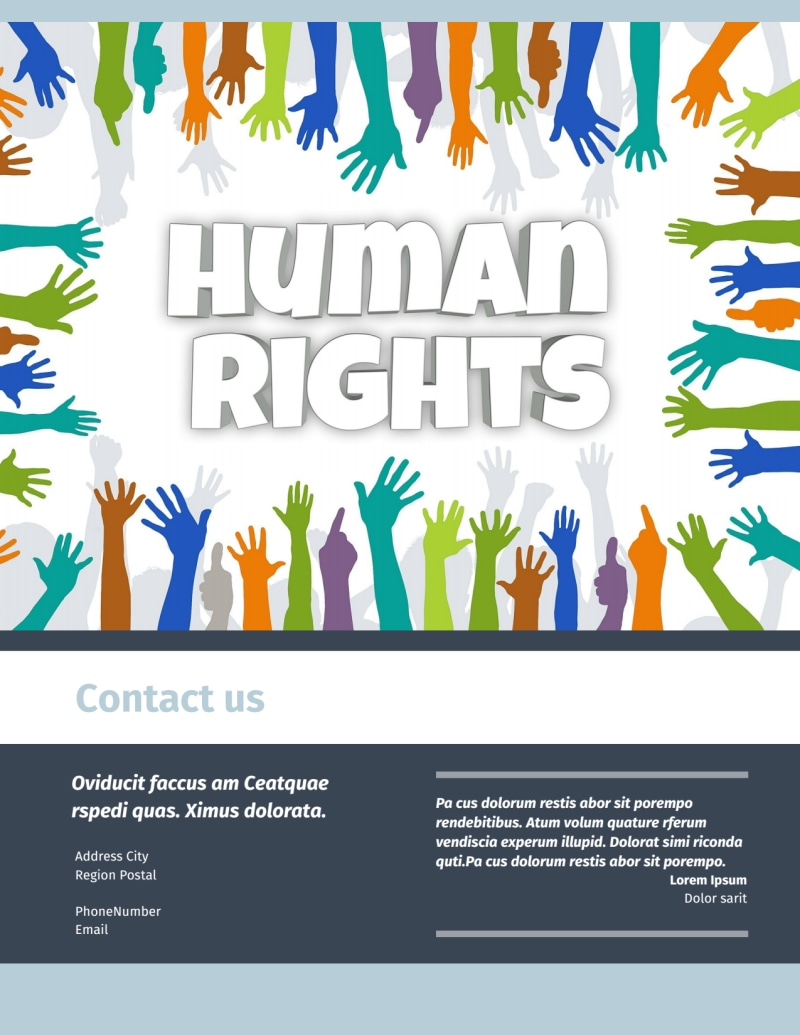Human Rights Advocates Flyer Template Preview 3