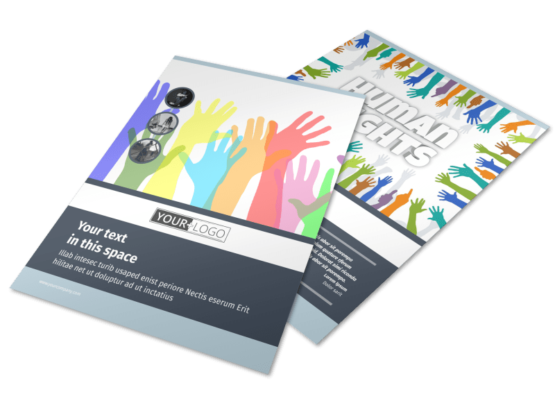 Human Rights Advocates Flyer Template Preview 1