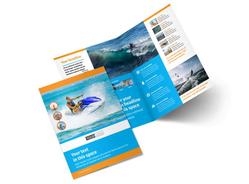 Water Sport Rentals Bi-Fold Brochure Template 2