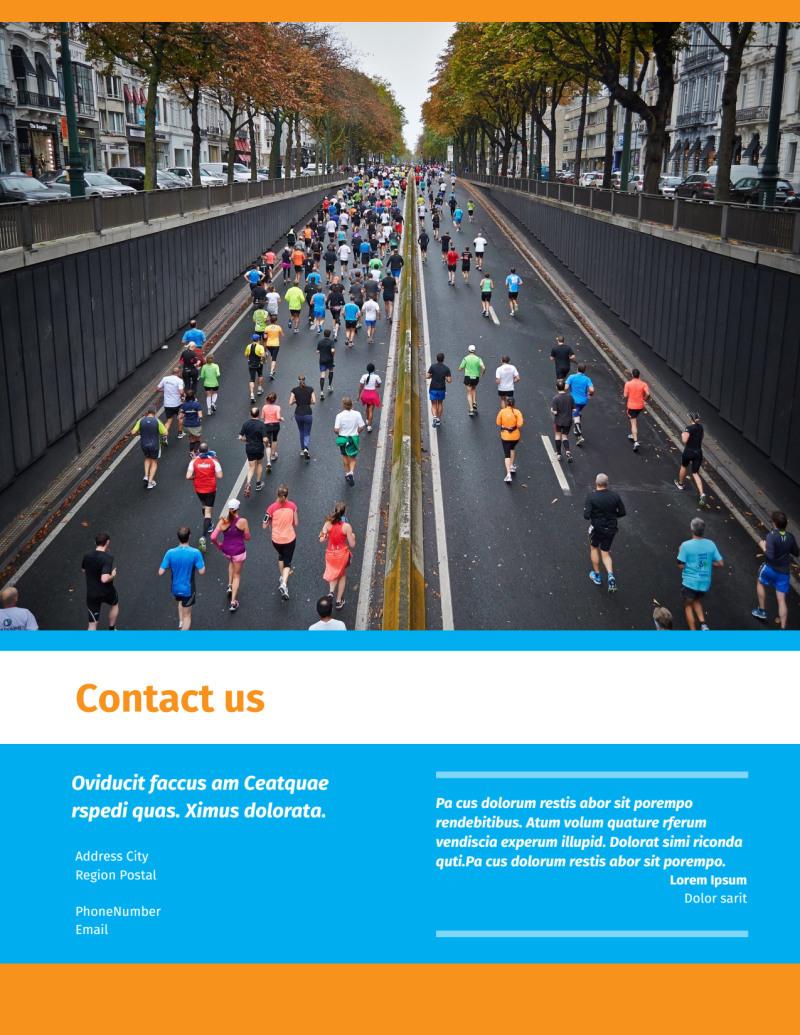 Marathon Race Flyer Template Preview 3