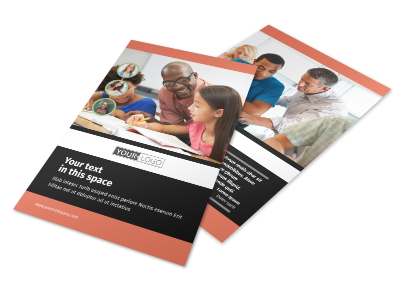 learning center tutoring flyer template mycreativeshop