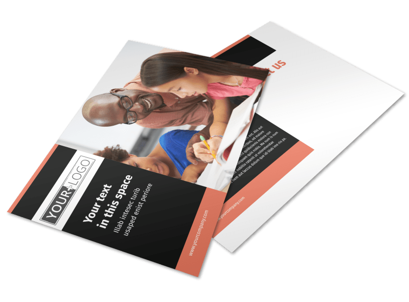 Learning Center & Tutoring Postcard Template Preview 1