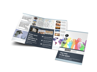 Human Rights Advocates Bi-Fold Brochure Template