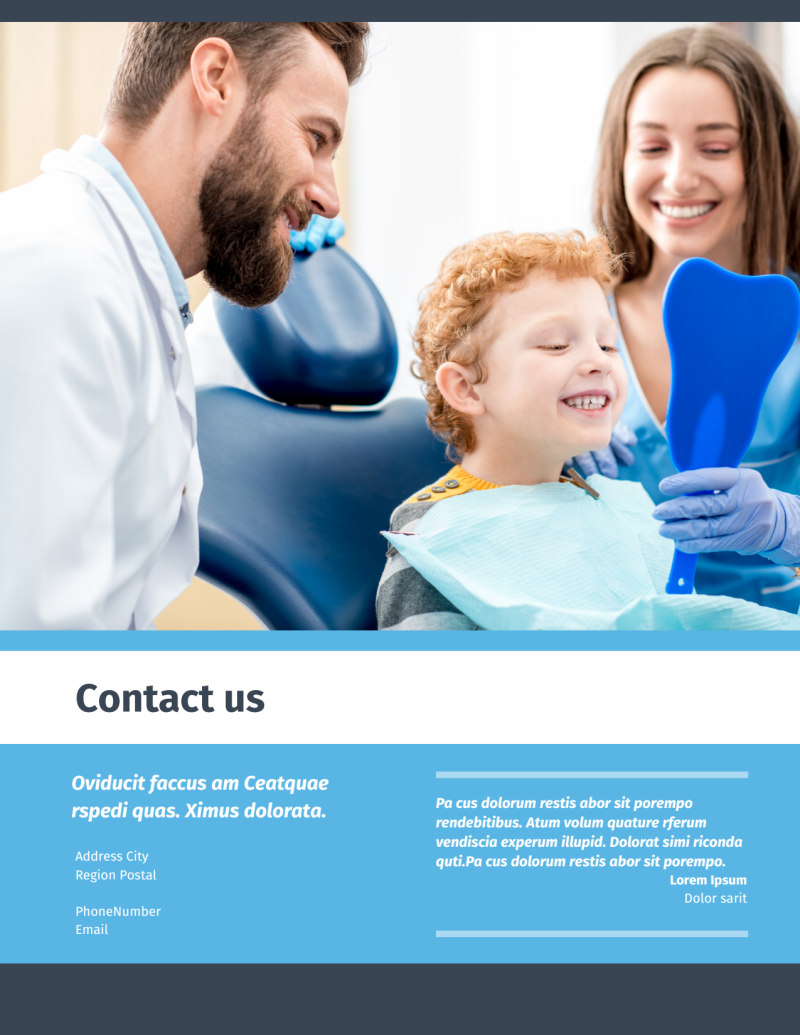 Your Family Dental Flyer Template Preview 3