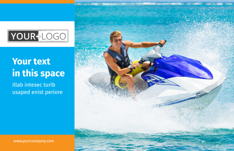 Water Sport Rentals Postcard Template Preview 2