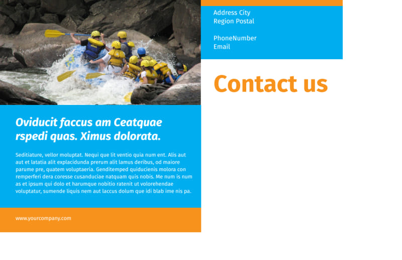 Water Sport Rentals Postcard Template Preview 3