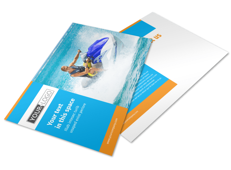 Water Sport Rentals Postcard Template Preview 1