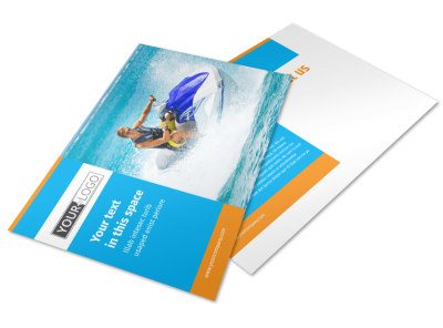 Water Sport Rentals Postcard Template preview