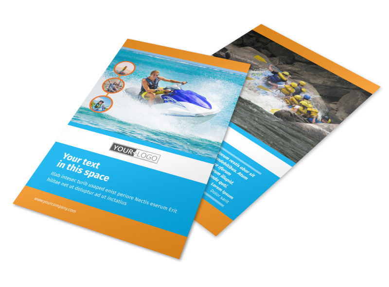 Water Sport Rentals Flyer Template Mycreativeshop