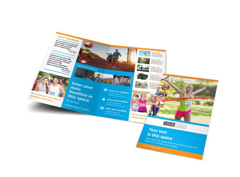 Marathon Race Bi-Fold Brochure Template