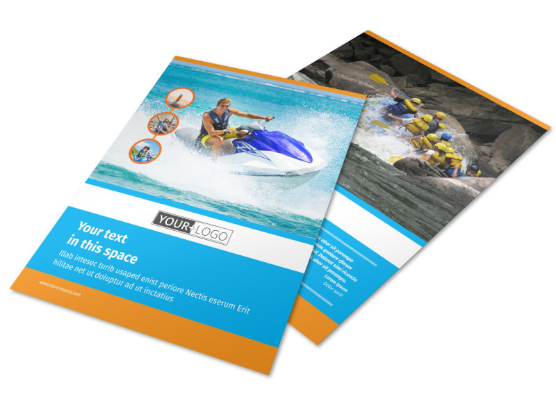 Water Sport Rentals Flyer Template | MyCreativeShop