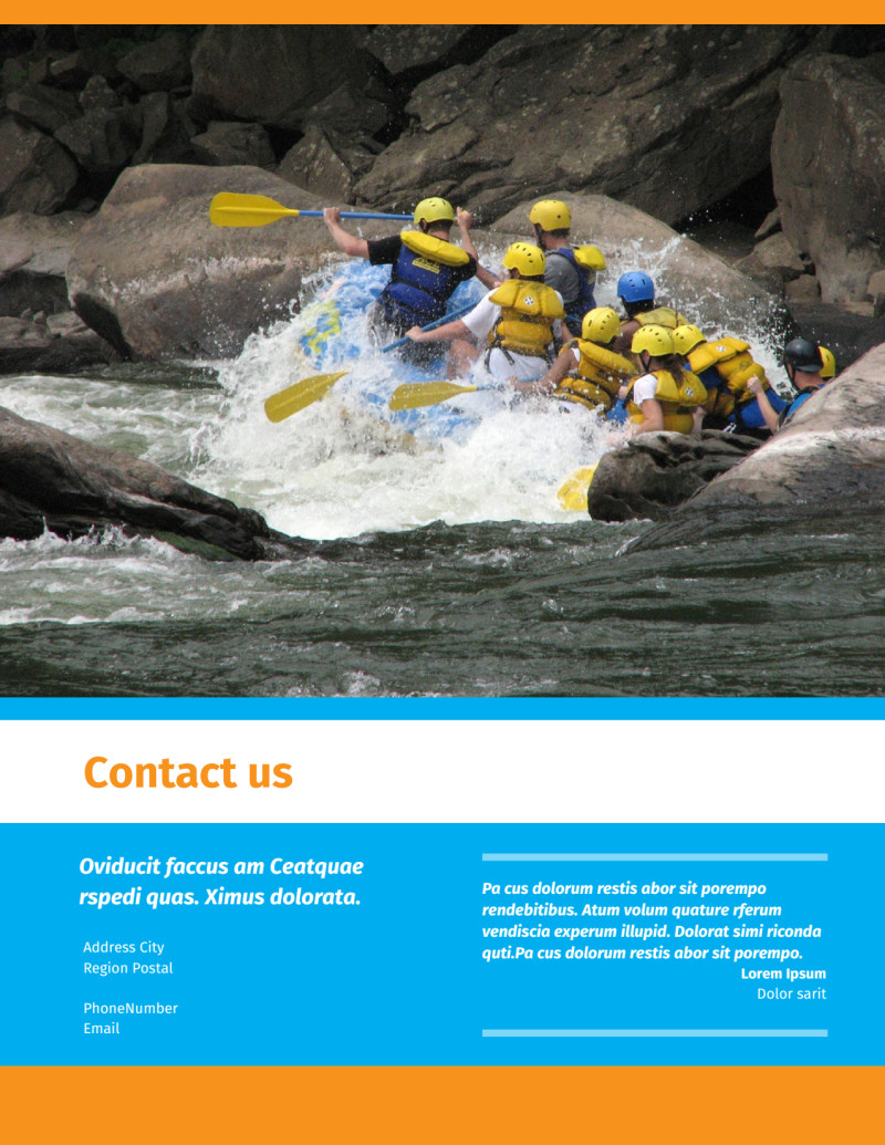 Water Sport Rentals Flyer Template Preview 3