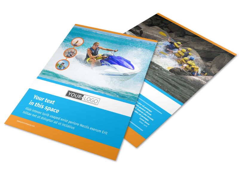 Water Sport Rentals Flyer Template Preview 1