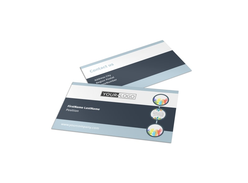 Human Rights Advocates Business Card Template Preview 4