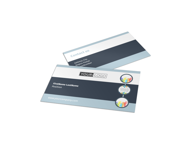 Human Rights Advocates Business Card Template Preview 1