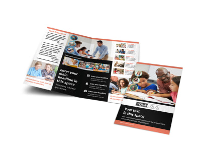 Learning Center & Tutoring Bi-Fold Brochure Template preview