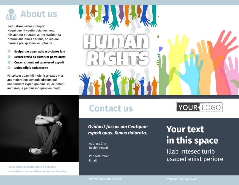 Human Rights Advocates Brochure Template Preview 2