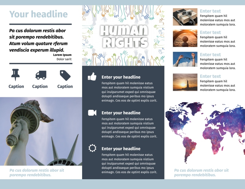 Human Rights Advocates Brochure Template Preview 3