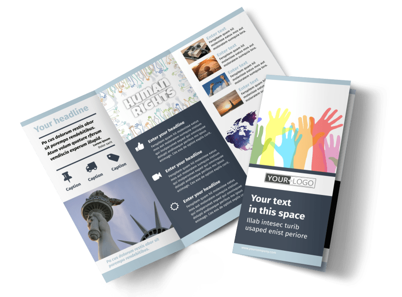 Human Rights Advocates Brochure Template Preview 1