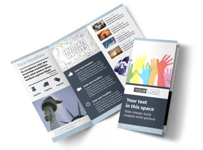 Human Rights Advocates Tri-Fold Brochure Template