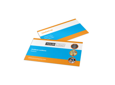Marathon Race Business Card Template preview