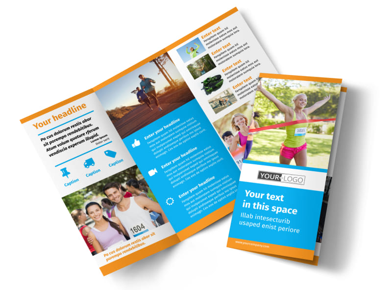 Marathon Race Brochure Template Preview 4