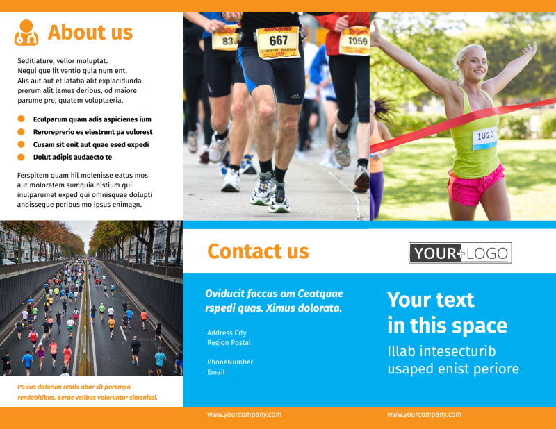 Marathon Race Brochure Template Preview 2